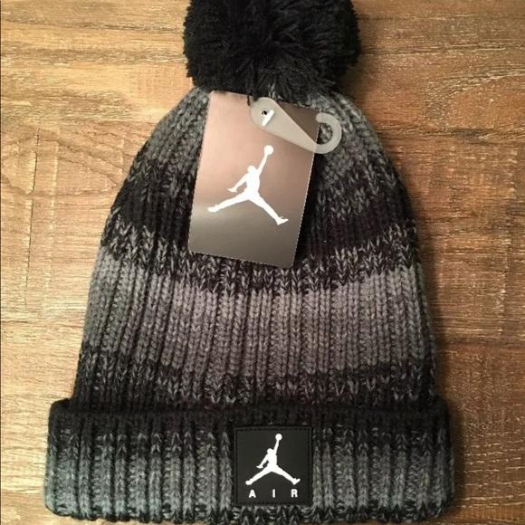 27c2c32ab32869 Nike Air Jordan: Grey/Black Pom Jumpman Beanie. NWT. Jordan. $20 $24. Size.  8-20